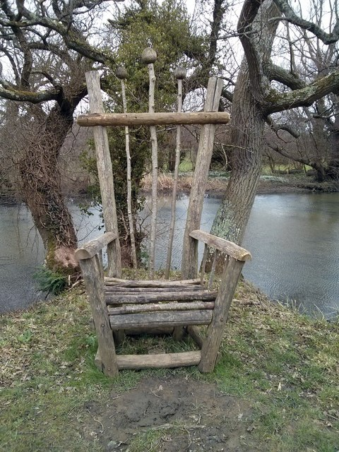 A 'Chair' in grounds of Mitchelham Priory