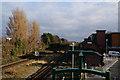 SJ0683 : Looking east from Prestatyn Train Station by Ian S
