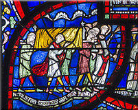 TR1557 : Plague in the house of Sir Jordan Fitz-Eisulf Part 1, Stained glass window by Julian P Guffogg
