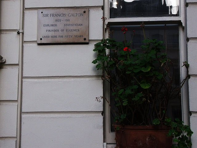 Plaque to Sir Francis Galton