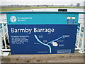 SE6828 : Notice  on  Barmby  Barrage by Martin Dawes
