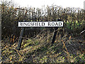 TM4088 : Ringsfield Road sign by Adrian Cable