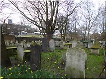 TQ3282 : Moorgate, Bunhill Fields Burial Ground by Mike Faherty