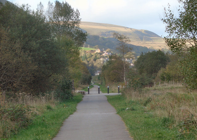 Cycle path in the Ogmore Valley (2)