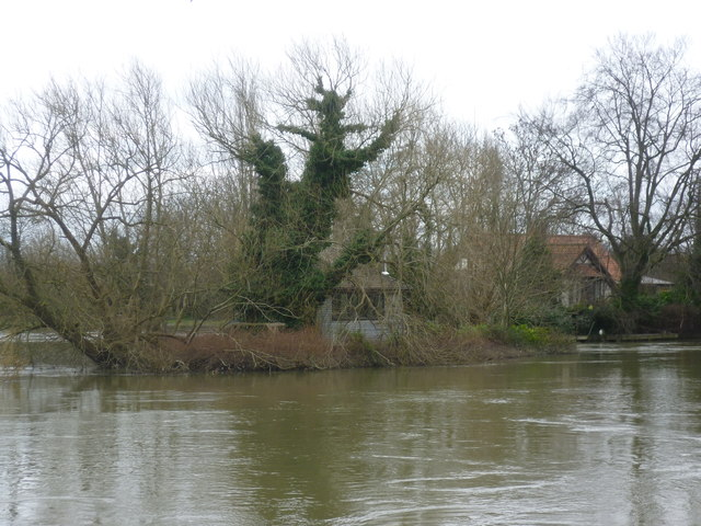 An island next to Thames Ditton Island