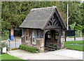 SK2327 : Lych gate, Rolleston Church by Alan Murray-Rust