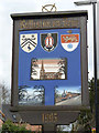 SK2327 : Rolleston Village Sign -1 by Alan Murray-Rust