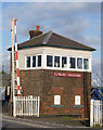 SK2129 : Tutbury Crossing Signal Box by Alan Murray-Rust