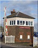 SK2129 : Tutbury Crossing Signal Box by Alan Murray-Rust
