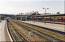 SK3635 : Derby Station, 1993 by Ben Brooksbank