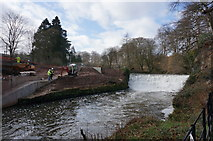 SJ8382 : Weir at Quarry Bank , Styal by Peter Barr