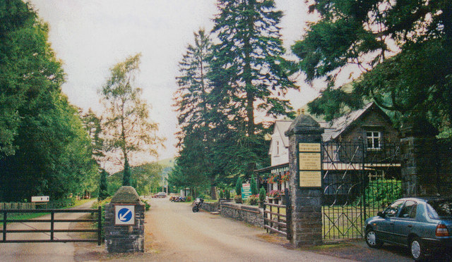 Site of former Dinas Mawddwy station, 1999