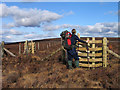 SD5750 : Fence junction near Johnny Pye's Clough Top by Trevor Littlewood