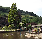 SD9927 : The canal at Hebden Bridge by Linden Milner