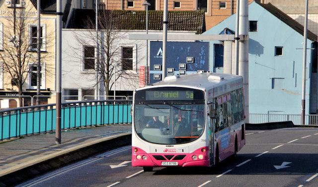 Braniel bus, Belfast (February 2014)