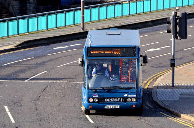 City Airport bus, Belfast (February 2014)