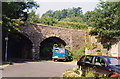 SD9806 : Site of former Dobcross station, 1991 by Ben Brooksbank