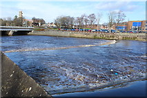 NS3421 : Weir on the River Ayr by Billy McCrorie