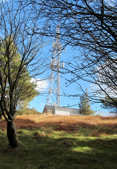 View southeastwards towards the Drinnahilly Transmitter