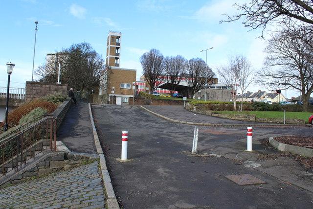 Road at Ayrshire College Car Park
