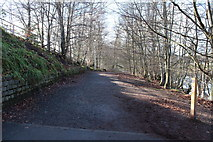 NS3421 : River Ayr Way with Marker Post by Billy McCrorie