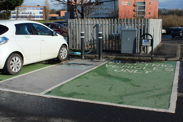 Vehicle Charging Point, Mill Brae Car Park, Ayr