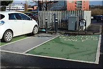 NS3421 : Vehicle Charging Point, Mill Brae Car Park, Ayr by Billy McCrorie