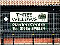 TM3388 : Three Willows Garden Centre sign by Adrian Cable