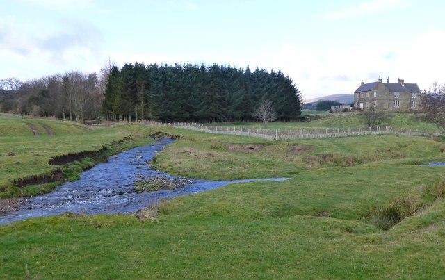 Confluence of Netherton Burn and Scrainwood Burn
