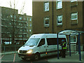 TQ3279 : Guy's & St Thomas's hospitals, staff bus by Stephen Craven