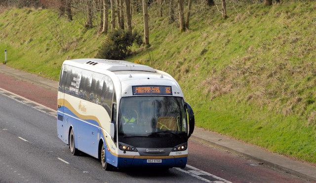 Dublin express, M1, Ballyskeagh (March 2014)