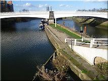 TQ3882 : Twelvetrees Crescent bridge by Marathon