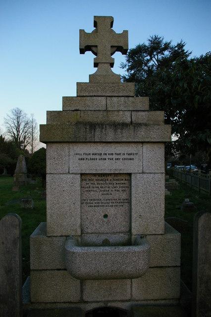 Memorial drinking fountain to the Rev. Charles Jansen, Chislehurst