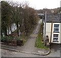 SN7203 : Riverside cycleway and footpath in Pontardawe by Jaggery