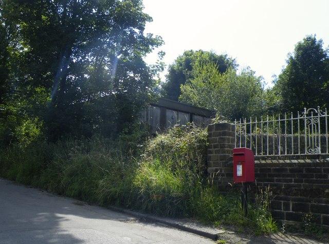 Post Box and (former) Pre-Fab Terrapin Classroom, Mortimer Road, Midhopestones