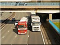 SD8004 : HGVs at Whitefield interchange by David Dixon