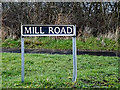 TM3692 : Mill Road sign by Geographer