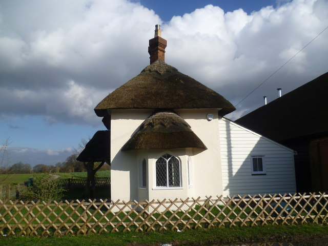Thatched lodge in Cobham Park