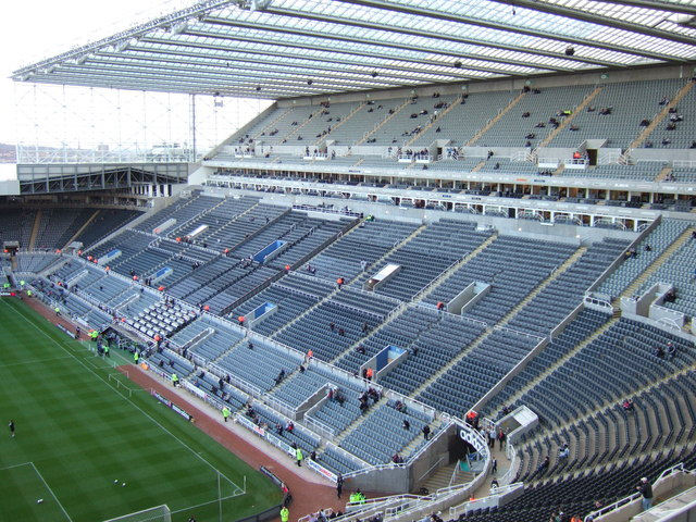 St James' Park, Newcastle - The Milburn Stand