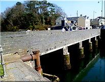 SH5738 : South side of Pont Britannia, Porthmadog by Jaggery