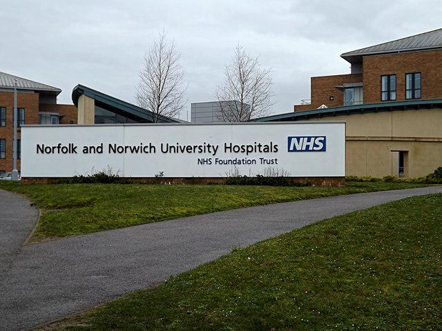 Norfolk & Norwich University Hospitals sign