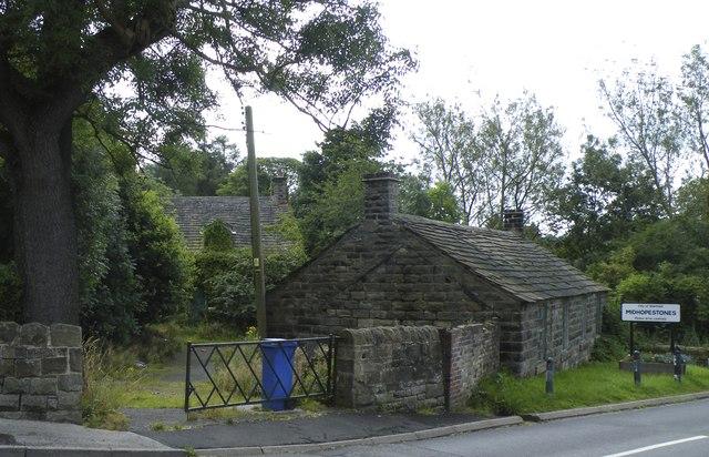 Village Sign and Cottages on Mortimer Road, Midhopestones, near Stocksbridge - 1
