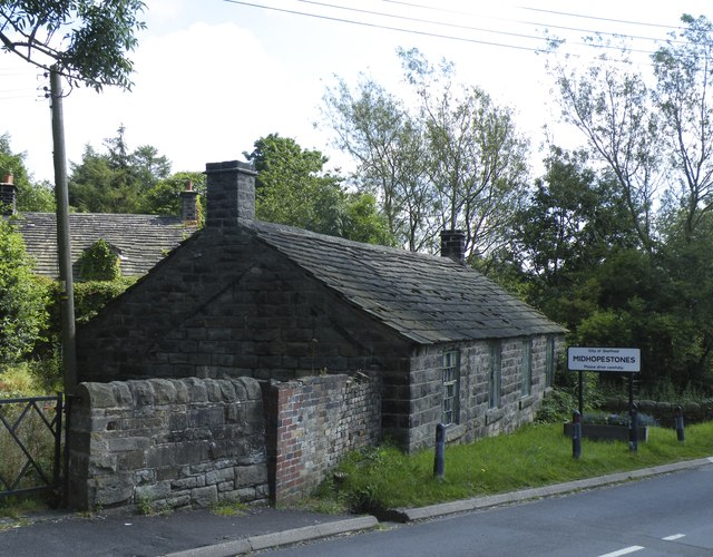 Village Sign and Cottages on Mortimer Road, Midhopestones, near Stocksbridge - 2