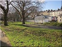 SX9164 : Disused play space, Upton Park by Derek Harper