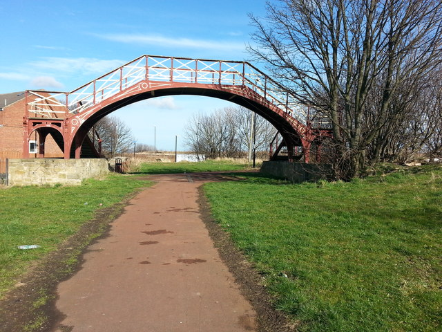 Old Railway Footbridge over what is now Cycle Route 1