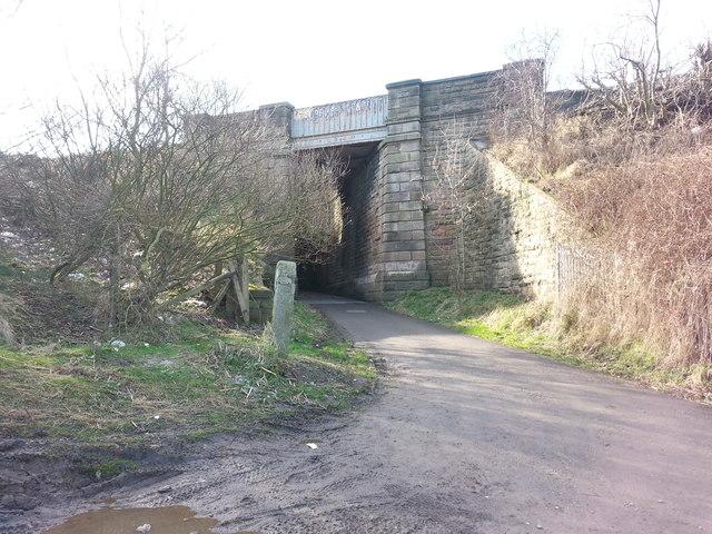 Railway Bridge over bridleway to Ryhope Beach