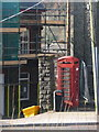 ST1891 : Cwmfelinfach: phone box and grit bin by Chris Downer
