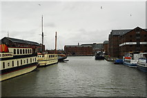 SO8218 : Gloucester Docks twenty years later by John Winder