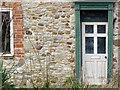 SK6025 : Church Site Farmhouse, detail by Alan Murray-Rust