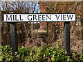 TL9542 : Mill Green View sign, Mill Green by Hamish Griffin